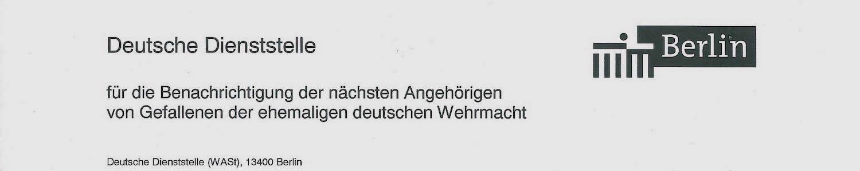 Deutsche Dienststelle WAST | Wehrmacht Vermisst Griechenland
